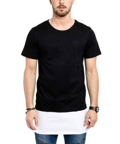 Phoenix Oversize Layered Side Zip T-Shirt II Longtee Longshirt Black Men/'s