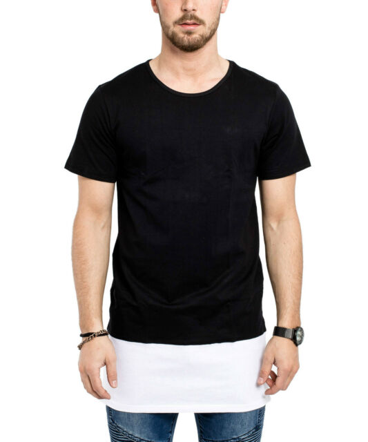 Phoenix Basics Oversize Layered Side Zip T-Shirt II Longtee Longshirt Black