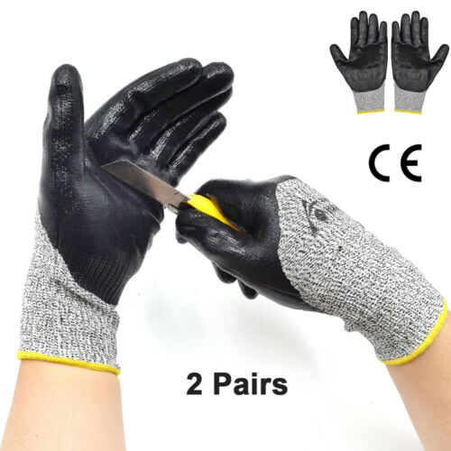 Cut Resistant Gloves Cut-proof Safety Kitchen Outdoor Butcher Level 5 Protective