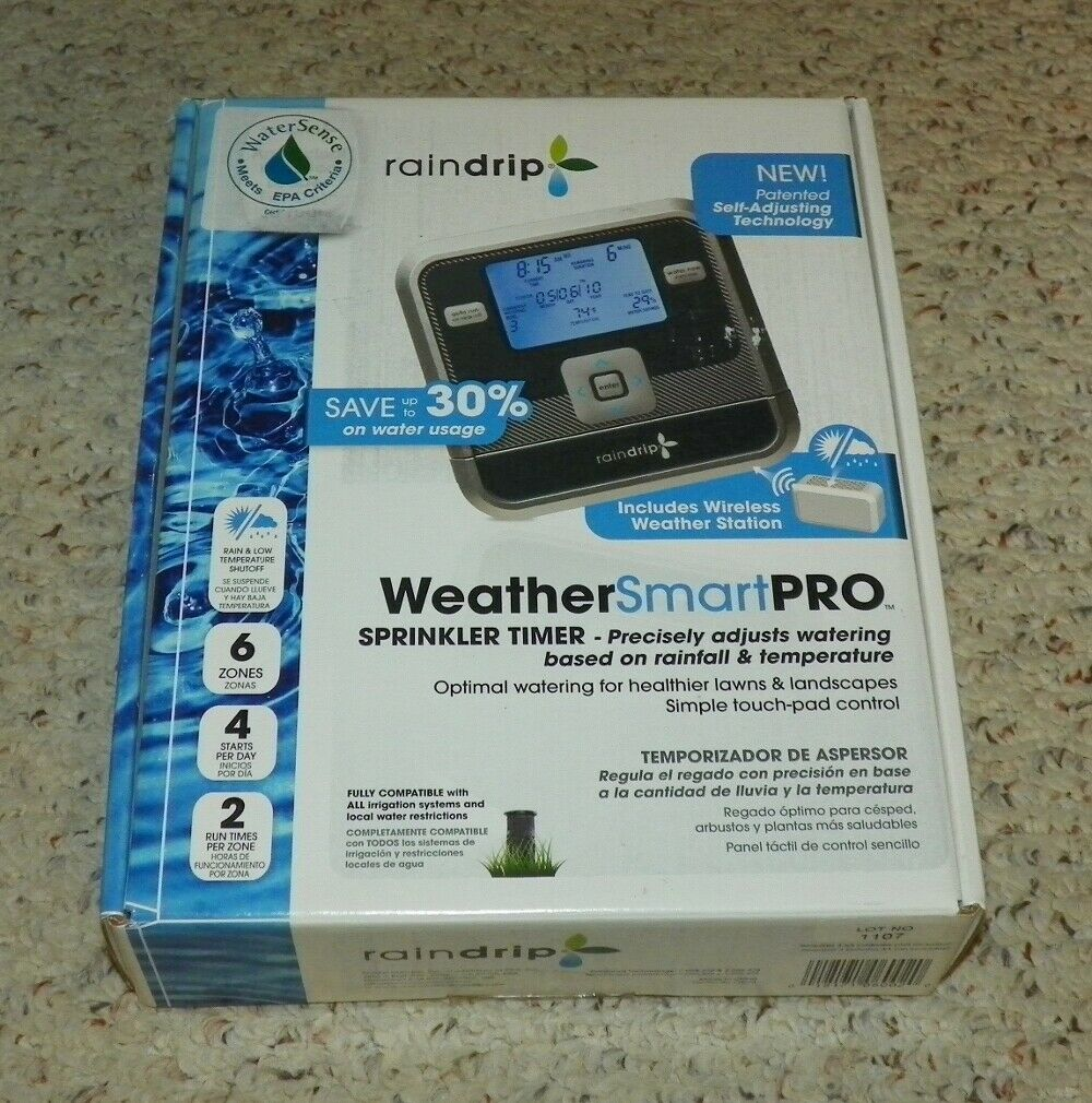 Raindrip - Weathersmartpro 6-station Electronic Water Sprinkler Timer