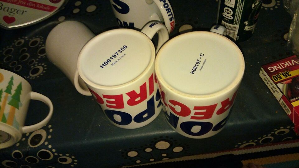 Keramik, American mugs. Starbucks California
