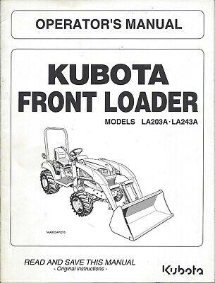 SET OF 2 MANUALS Loader Operator Manual Kubota L2800 L3400 L3700SU ...
