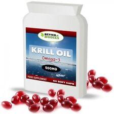 Aceite de krill rojo extra fuerza 500mg 60 Cápsulas
