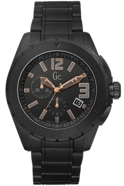 Nuevo Guess Gc X76009G2S Hombre XXL Blackout Cerámica Reloj Pulsera-2 Años de