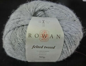 17-100-g-50-g-Rowan-FELTED-TWEED-Fb-197-Alabaster-grau-Lot-10614-3572