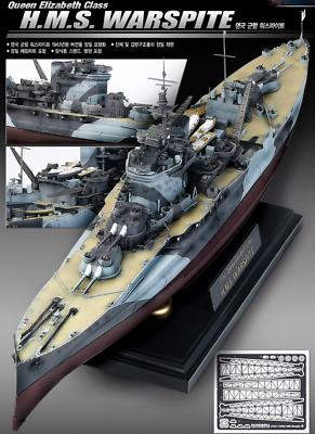 1//350 Queen Elizabeth Class H.M.S WARSPITE  Plastic Model Kit B14105 ACADEMY