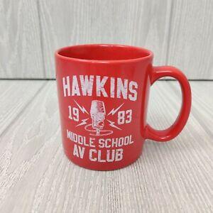 Official Stranger Things Hawkins Middle School AV Club Coffee Mug / Cup Red