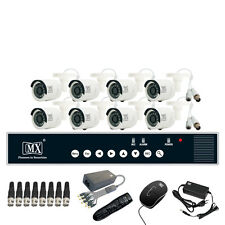 MX CCTV Camera Kit 8 Channel Analog System w/ Analog Camera DVR BNC DC pin -Set4