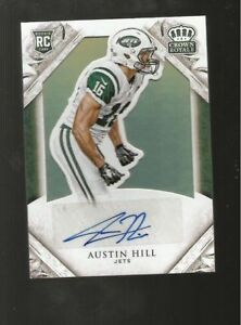 AUSTIN-HILL-JETS-2015-PANNI-CROWN-ROYALE-Rookie-Signatures-BRONZE-105-199
