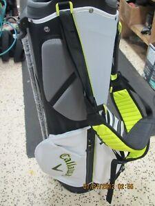 White Black Neon Callaway FairwayC Stand Golf Bag
