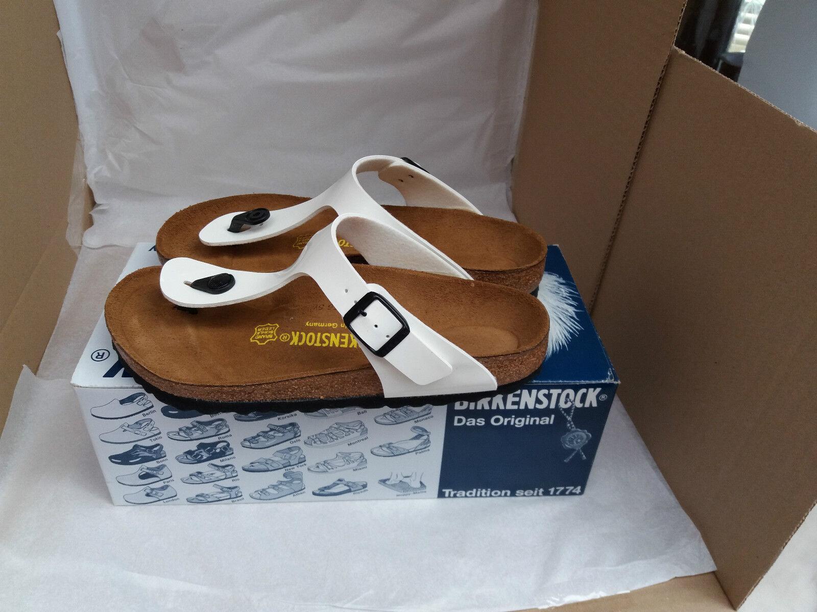 New Birkenstock Gizeh WEISS Thong Sandale UK Größe 4.5 EU 37