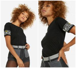 WRANGLER-X-PETER-Max-Negro-Camiseta-tees-034-sistema-solar-034-Top-Pop-Art-XS-S-M-L
