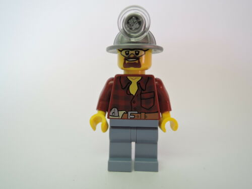 Lego Figur City Minenarbeiter cty309 Flanellhemd  Grubenhelm  Set 4200 4204