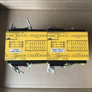 LOT OF 2 PILZ PNOZ X9P 24VDC 7N/O 2N/C 2SO SAFETY RELAY MODULE, 24VDC 5,5W