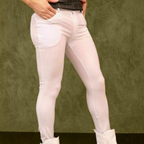 Herren Elasthan Leggings Hose Dehnbar Skinny Schnelltrocknend Tanz Club Kleidung