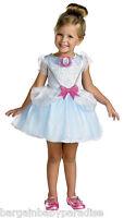 Disney Cinderella Girls Dress Costume Ball Gown Ballerina W Gloves 4 - 6x