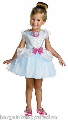 DISNEY Cinderella Girls Dress Costume Ball Gown Ballerina w Gloves 4 - 6X NWT