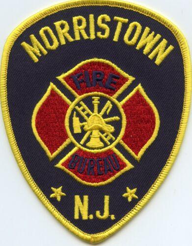 MORRISTOWN NEW JERSEY NJ FIRE PATCH