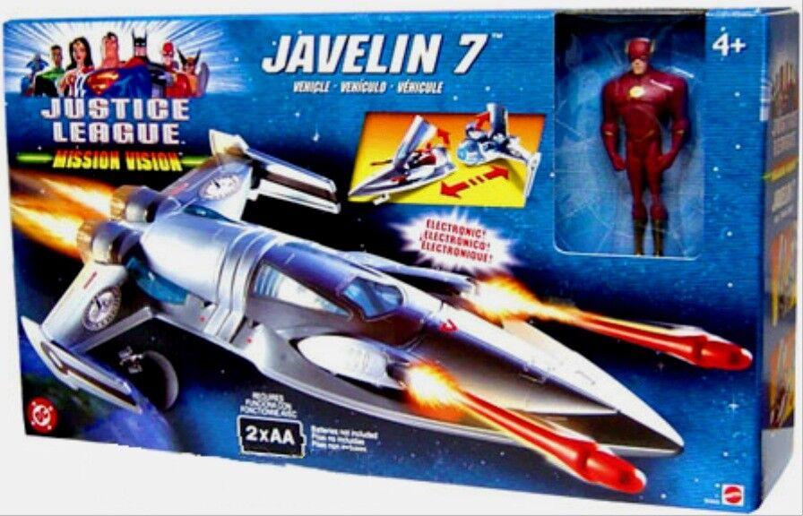 Justice League électronique javelin 7 Avec 5  Flash NEW FACTORY SEALED 2003