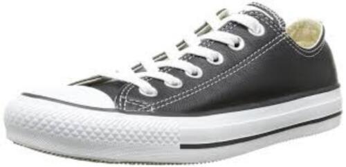 132174c Converse New Lo 5 Ox Taylor Black Chuck 3 Zapatillas 7 Leather mujer para 1qAwwv4