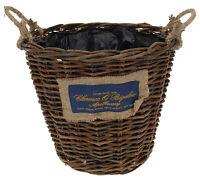 Large Wicker Storage Basket with Handles Wicker Log Basket Wicker Round Basket