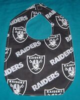 New BABY CHILD BIB OAKLAND RAIDERS FOOTBALL SWORD FACE SHIELD SHIPPING DISCOUNTS