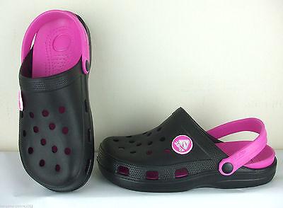 Señoras mulas de enfermería de jardinería para mujer Playa zuecos Sandalias Flip Flop UK Size 4-8