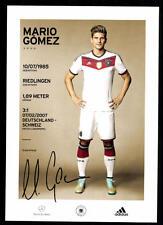 Mario Gomez DFB Autogrammkarte 2014 mit 4 Sternen Weltmeister 2014
