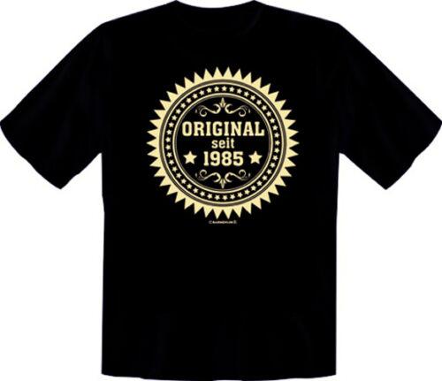 Geburtstag 34sten Happy Birthday Fun Shirt T-Shirt Original seit 1985  zum 34