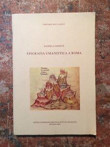 Gionta-Epigrafia-umanistica-a-Roma-Centro-Studi-Umanistici-Messina-2005-SAGGI