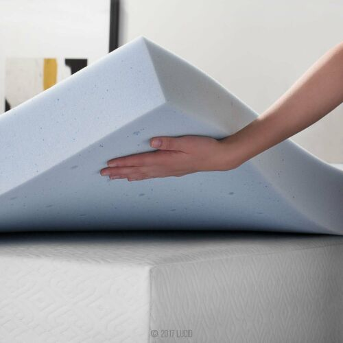 4-Inch Memory Foam Gel Topper Mattress Bed Soft Comfort Pad Breathable Thick NEW