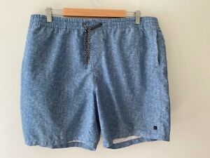 Quiksilver-Mens-Blue-Marle-Board-Shorts-Pockets-XXL-Pockets