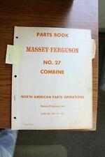 Massey Ferguson 27 Combine Parts Manual