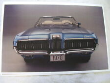 1970 Mercury Cougar Convertible Front View In Color 11 X 17 Photo Picture