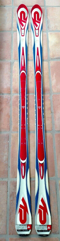 K2 ROT Weiß & Blau Omni Sport 181cm 181cm 181cm Parabolic All Mountain downhill skis 2261ac
