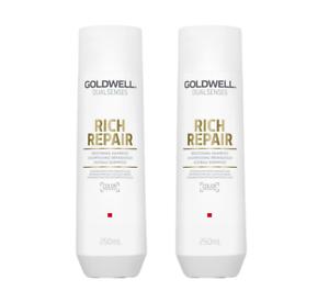 2-x-250-ml-Goldwell-Shampoo-Rich-Repair-Restoring-Shampoo