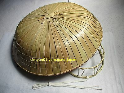 NEW Japan NInja Samurai Hat Edo Travel Cosplay Natural Bamboo SANDO KASA 03.