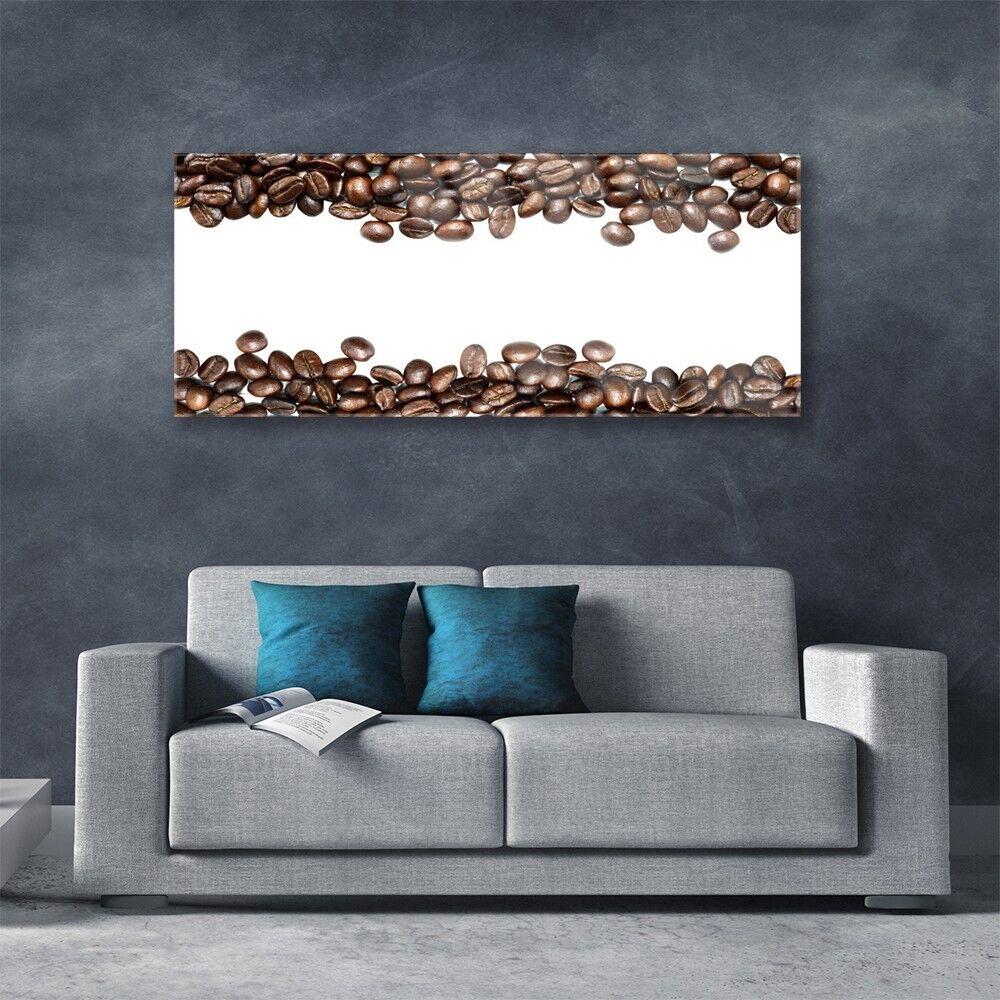 Acrylglasbilder Küche Wandbilder aus Plexiglas® 125x50 Kaffeebohnen ...