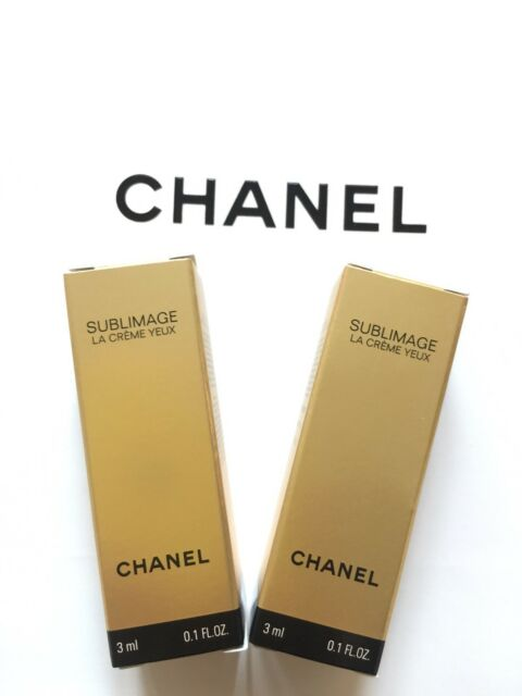 CHANEL NEW SUBLIMAGE LA CREME YEUX ~ EYE CREAM 3ML X 2 TUBES