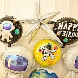 Boy-Baby-Kids-Outer-Space-Astronaut-Rocket-Foil-Balloons-BIRTHDAY-Party-Decor-AY