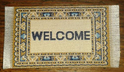 Dollshouse Casa de muñecas en miniatura de alfombra de bienvenida