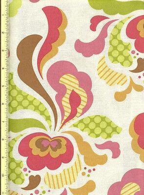 Fresh Cut Groovy in Brown and Peach fabric by Heather Bailey 1/2 yd