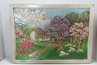 Vintage Ceramic Wall Plaque 3D Art Country Home Wall Hanging Decor Hershey Mold