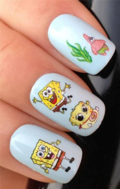 Nail Designs Collection On EBay - Spongebob nail decals