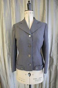 1950s Revival Wool Genuine Goodwood Uk Jacket 12 Dereta Approx Vintage Grey 6S55qw4
