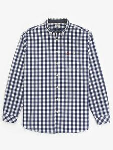 Joules-Men-039-s-Hewney-Classic-Fit-Shirt-Buckingham-Blue-Gingham-Sizes-M-2XL