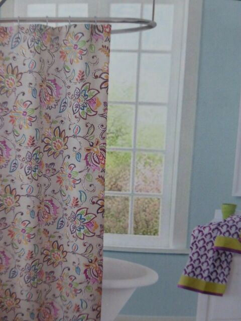 Jacobean Fiesta Fabric Shower Curtain 70 X 72 NIP