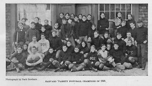 HARVARD VARSITY FOOT-BALL TEAM CHAMPIONS OF 1898 GREAT COLLEGE GAME OF FOOTBALL