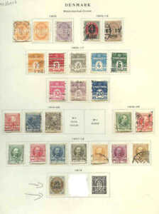 DENMARK EARLY ISSUES 26 STAMPS SOME OG M/M COLLECTION LOT