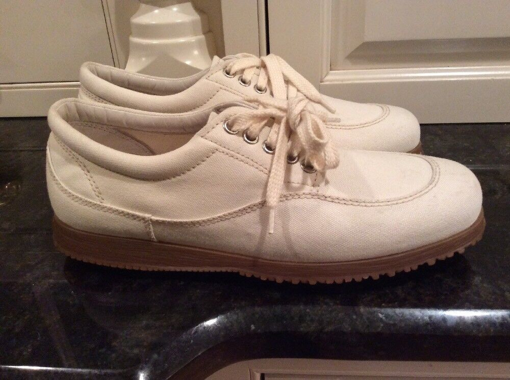 Hogan Ivory Canvas Sneakers, Größe 8. Canvas Ivory & Leder. Nice 9aec82